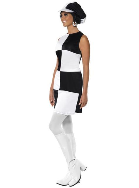 Disfraz de fiesta años 60 para mujer - original
