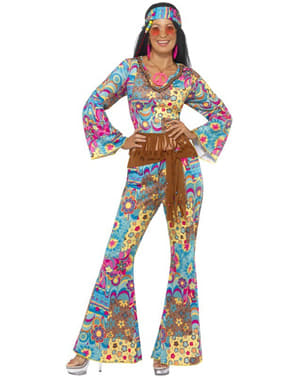 Strój hippi flowerpower damski