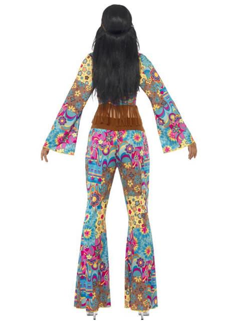 Disfraz de flowerpower hippie para mujer - mujer