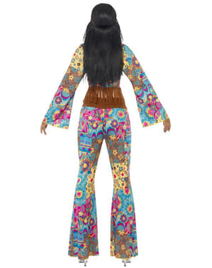 Costum flowerpower hippie pentru femeie