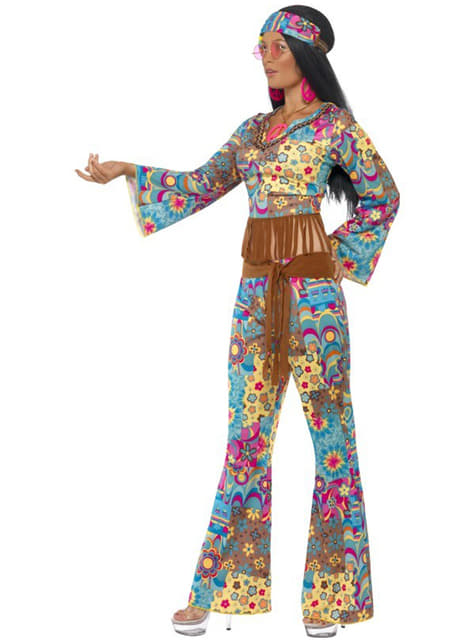 Disfraz de flowerpower hippie para mujer - original