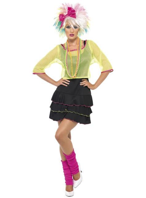 Costume festa pop anni 80 da donna