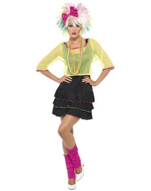 Jaren 80 Pop Ster kostuum voor vrouwen