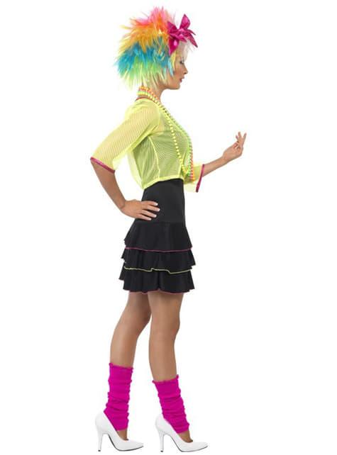 Disfraz de fiesta pop años 80 para mujer - original