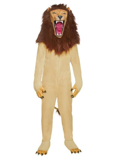 Disfraz de león Deluxe para adulto - hombre