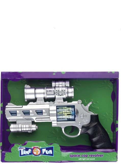 Pistolet de l'espace avec lumière et son