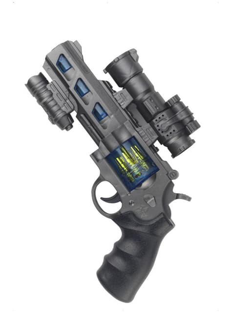 Pistola del espacio con luz y sonido - para tu disfraz