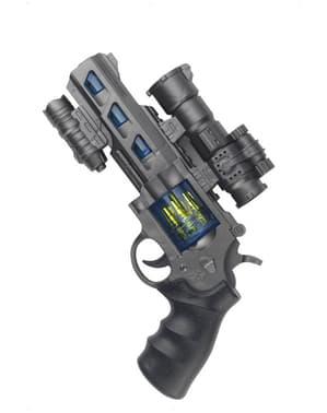 Rymdpistol med ljud och ljus