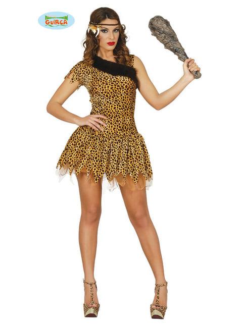 Costum de primitivă galben pentru femeie