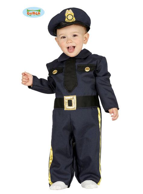 Disfraz de policía azul para bebé