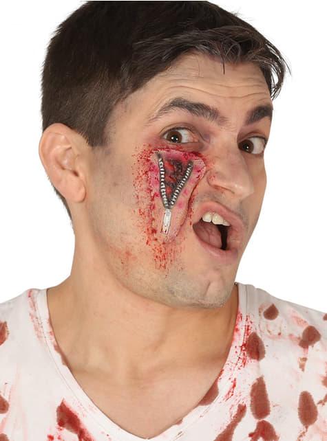 Cicatriz con cremallera para adulto