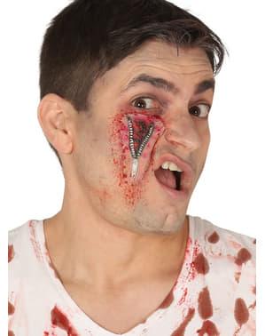Cicatriz com fecho de correr para adulto