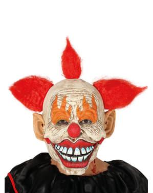 Clown Maske mit Haaren für Erwachsene