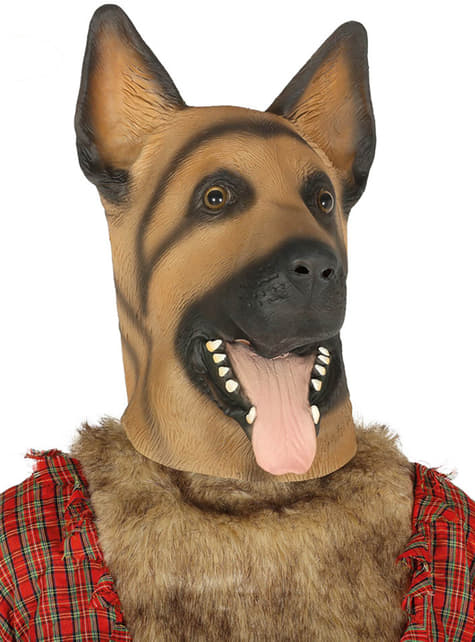 Classic German Shepherd mask for adults