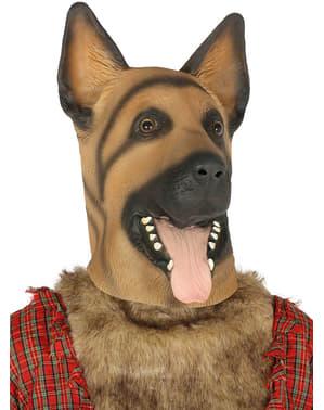 Schäferhund Maske classic für Erwachsene