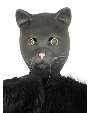 Black cat mask for adults