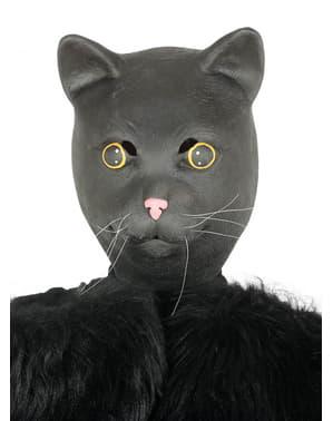 Máscara de gato preto para adulto