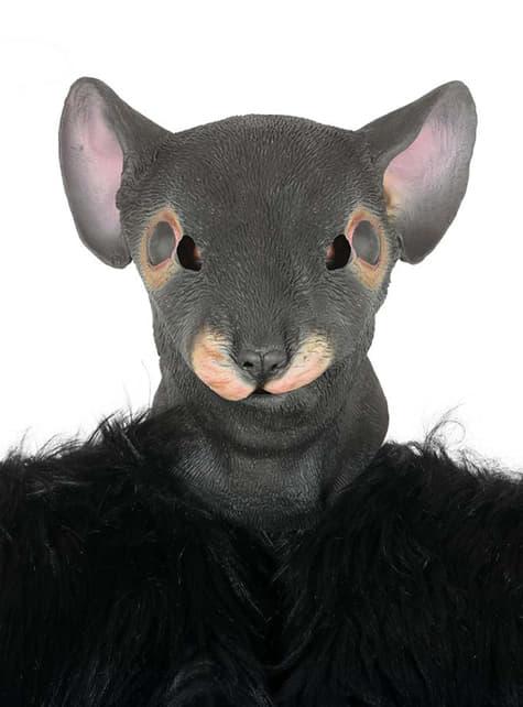 Máscara de rata gris para adulto