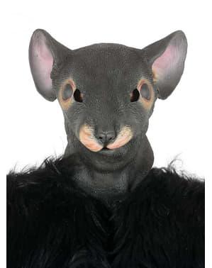 Harmaa rottanaamio aikuisille