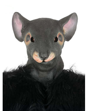 Ratten Maske grau für Erwachsene