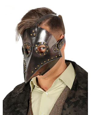 Black plague mask for adults