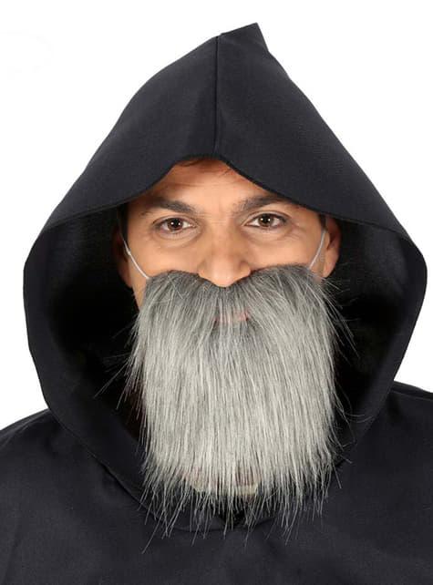 Barba mediana de anciano gris para hombre