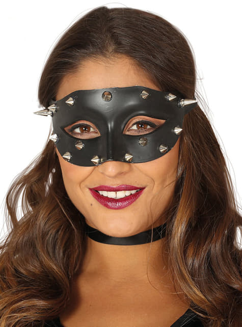 Eye mask with black spikes for adults