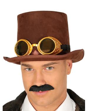 Chapéu steampunk castanho para adulto