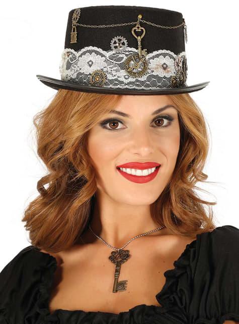 Sombrero steampunk negro para adulto