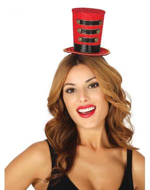 Μικρό κόκκινο μαζορέτα καπέλο για τις γυναίκες