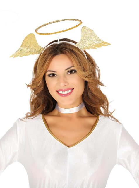 Gold angel headband for women