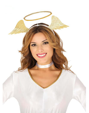 Diademă de înger aurie pentru femeie