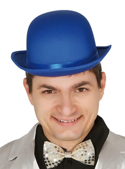 Bombín azul para adulto
