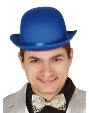 Blue bowler hat for adults
