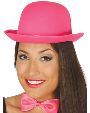 Pink bowler hat for adults
