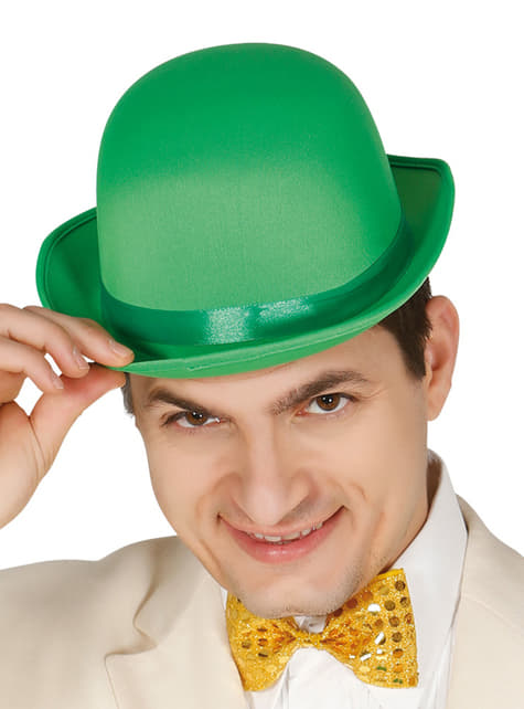 Chapéu de coco verde para adulto