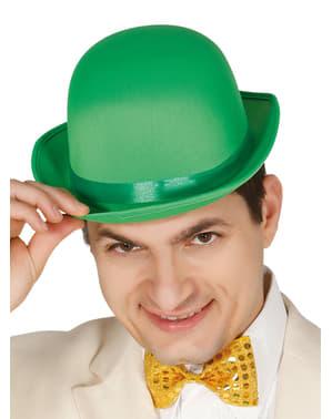 Grøn bowler hat til voksne