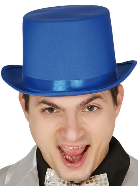 Chapéu elegante azul para adulto