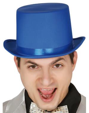 Elegancki niebieski kapelusz dla dorosłych