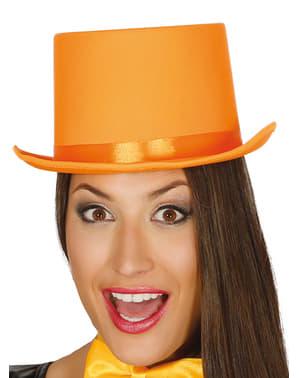 Oranje elegante hoed voor volwassenen