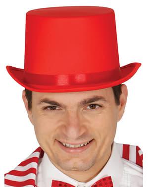 Rode elegante hoed voor volwassenen
