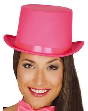 Chapeau élégant rose adule