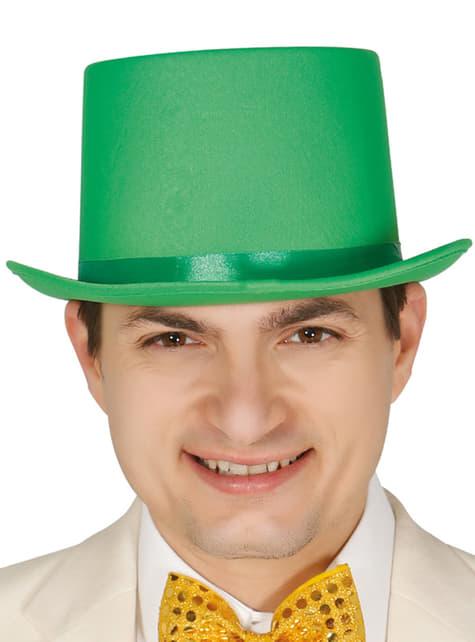 Chapéu elegante verde para adulto