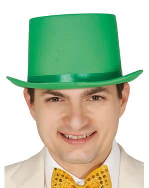 Elegancki zielony kapelusz dla dorosłych