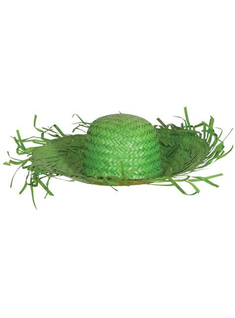Chapéu de espantalho verde para adulto