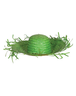 Klobouk pro dospělé strašák zelený