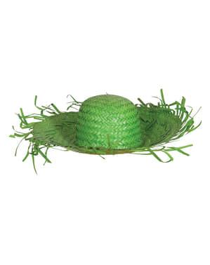 Sombrero de espantapájaros verde para adulto