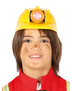 Gul miner hjelm til børn
