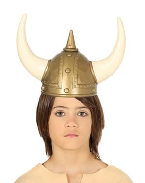 Capacete de viking infantil