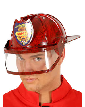 Cască de căpitan pompier pentru adult